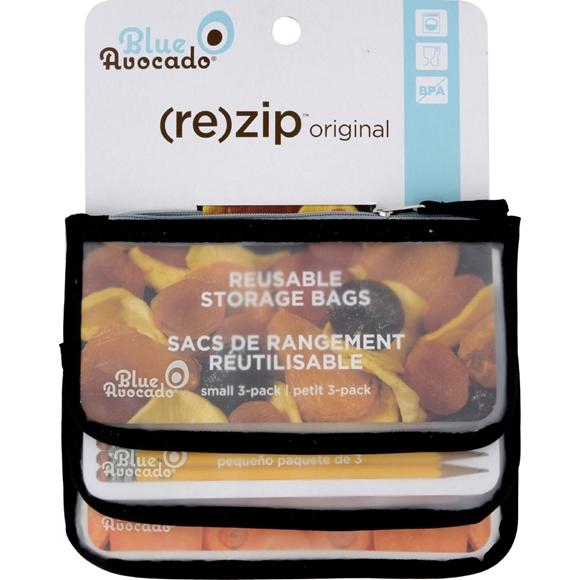 Picture of Blue Avocado Snack Zip Bag - Black - 3 Pack