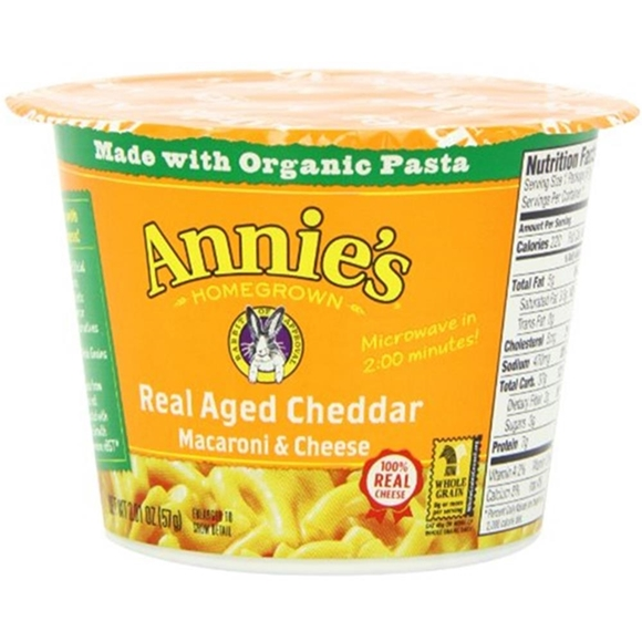 Picture of 12 Pack Annie's Homegrown - Real Aged Cheddar Microwavable Mac & Cheese ( 12 - 2.01 oz cans)